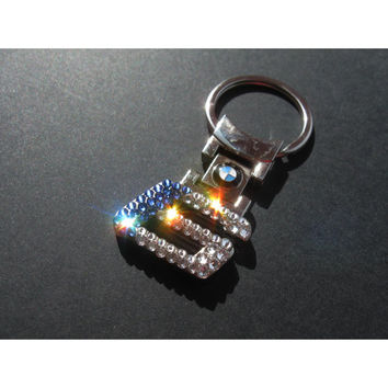 BLING BMW Keychain with Swarovski crystals bmw sleutelhanger bmw emblem bmw Keychain bmw Key chain bmw 6er five