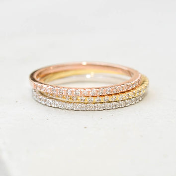 Eternity Ring Set - Multi