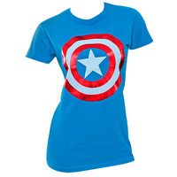 Captain America Shield Logo Women's Shirt | TeesForAll.com