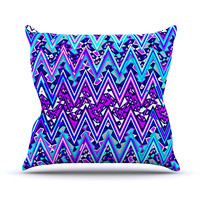 "Nika Martinez ""Blue Electric Chevron"" Throw Pillow"