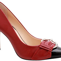 Scarpin Firenze Red and Black - Stephanie