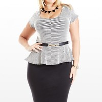 Plus Size This and Thatch Peplum Dress | Fashion To Figure