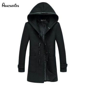 Free shipping Man Winter Jacket 2018 Wool Blend Men Coat Woolen Coat Male Manteau Homme Cardigan Men Coat And Jackets 165hfx