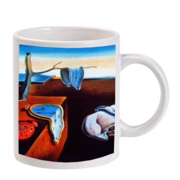 Gift Mugs | The Persistence Of Memory Melting Clocks Salvadore Dali Ceramic Coffee Mugs