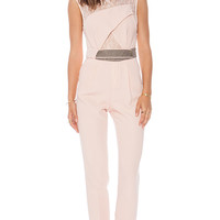 Three Floor Realm Jumpsuit in Blush