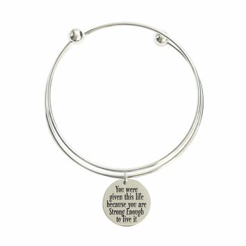 You Are Strong Enough Double Layer Bangle