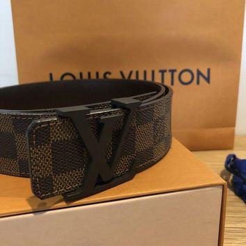 Gotopfashion Mens Authentic Louis Vuitton Monogram Belt