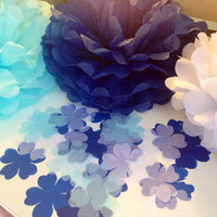 Confetti Set of12 Tissue Paper Pom Pom Bridal Shower Nursery Decor Party Decorations Tissue Poms Pomander Paper Flowers Children Birthday