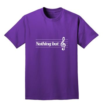 Nothing But Treble Music Pun Adult Dark T-Shirt by TooLoud