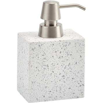 Quartz White Terrazzo Bathroom or Kitchen Pump Liquid Soap Lotion Dispenser