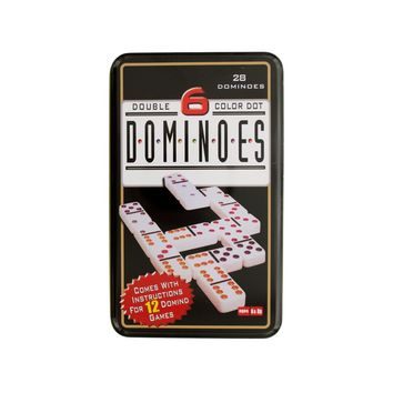 Double 6 Color Dot Dominoes Game Set Case Pack 4