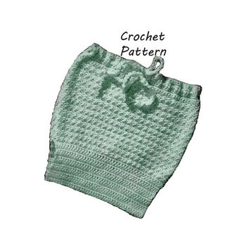 Baby Soaker, Diaper Cover Crochet Pattern || Vintage 1960's ||Reproduction PDF Instant Download 6031-60