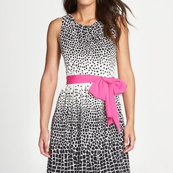 Women's Eliza J Print Fit & Flare Dress,