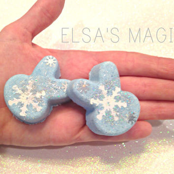 Elsa's Magic Bunny Bath Bombs, Frozen, Elsa, Winter, Organic, Vegan, Bath, cruelty free, Kids