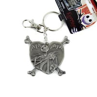 Jack and Sally Nightmare Before Christmas Keychain Skellington