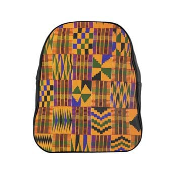 Ghana Kente Prin Unisext Backpack