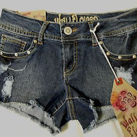 Wallflower Women's Shorts Sz 3 Reg Junior Stretch Jean Distressed