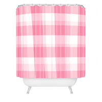 Lisa Argyropoulos Berry Sweet Checks Shower Curtain