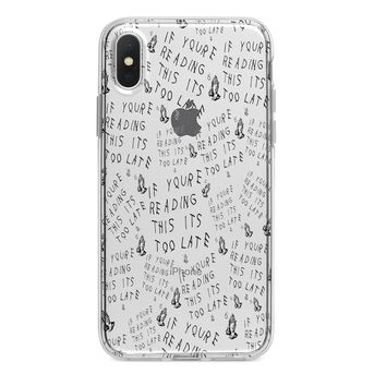 Clear Drake Too Late iPhone Case