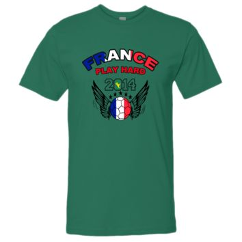 WORLD CUP france PLAY HARD 2014 tshirt