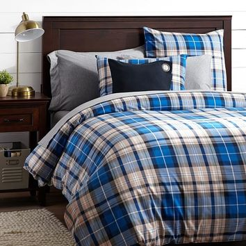 Fieldhouse Duvet Cover + Sham, Bright Blue