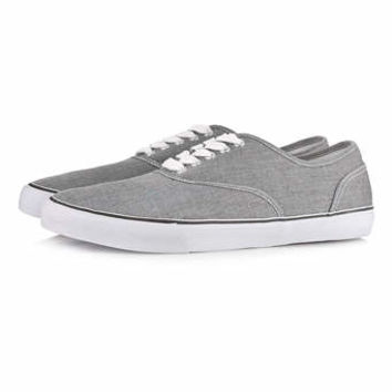 Grey Canvas Plimsolls - View All Shoes - Shoes and Accessories
