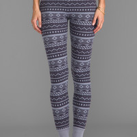 Splendid Fair Isle Legging in Dark Slate