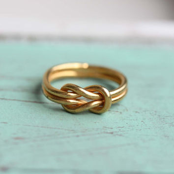 Sailor Knot Ring - Gold - Size 5