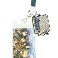Attack On Titan Chibi Character Lanyard