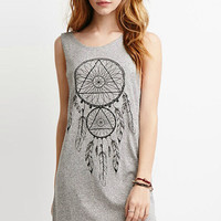 Grey Dream Catcher Sleeveless Dress