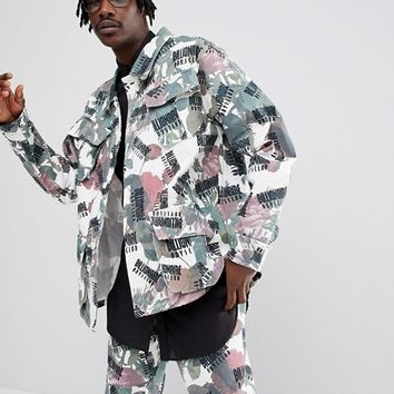 Billionaire Boys Club Jacket With All Over Floral Print at asos.com
