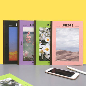Colorful B5 size grid-lined class notebook ver2
