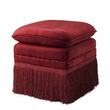 Red Fabric Stool | Eichholtz Rochas