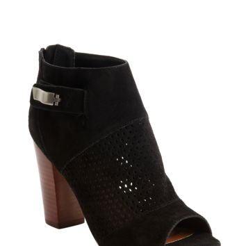 DV BY DOLCE VITA Black Perforated Detail Marana Ankle Boots