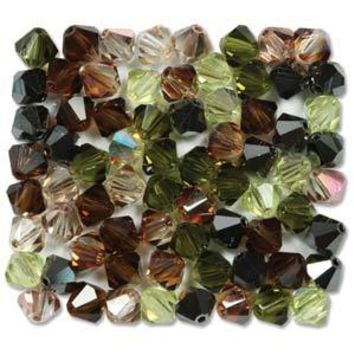 MC30204MIX46 - 4mm Preciosa Bicone Crystal Beads,  Artistic Impression | Pkg 144