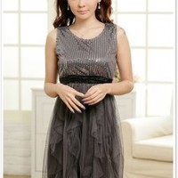 Affordable Sharp Sequin Party Lady Dress JK8209
