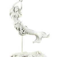 Mermaid Holding Pearl Figurine By Young