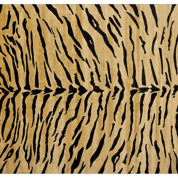 "9'2""x6'2"" Charles Rug, Gold/Black, Area Rugs"