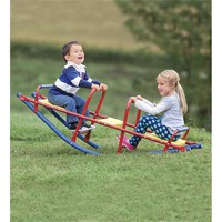 Durable Weather-Resistant Metal Rocking Seesaw | Outdoor Play Toys
