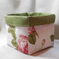 Lovely, Romantic Paris Themed Fabric Basket