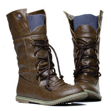 Motorcycle Martin Ankle Boots