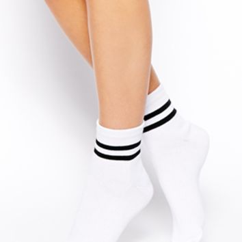 ASOS 2 Stripe Ankle Socks