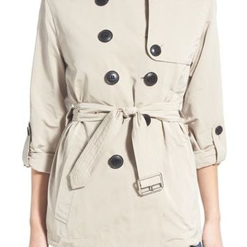 Burberry Brit 'Knightsdale' Belted Drop Tail Hooded Trench Coat | Nordstrom