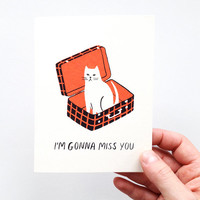 I'm Gonna Miss You - Screen Printed Farewell Card
