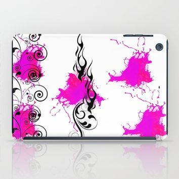 HOT PINK FLAMES iPad Case by violajohnsonriley