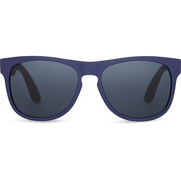 TOMS - TRAVELER Manu Matte Deep Cobalt Sunglasses / Dark Grey Lenses