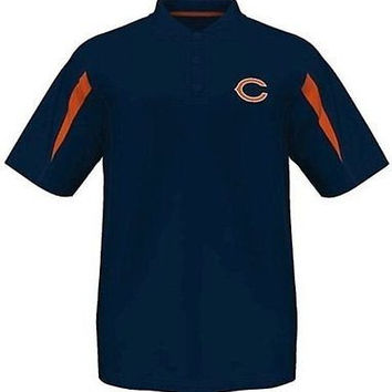 Chicago Bears Moist Management Synthetic Mens Polo Shirt Big & Tall Sizes