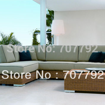 Luxury Outdoor Furniture All Weather Wicker Patio Sofa Set