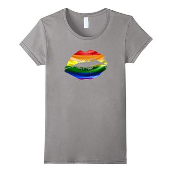 Women's Rainbow Lips Shirt - Gay Pride Shirt- LGBT Pride Shirt
