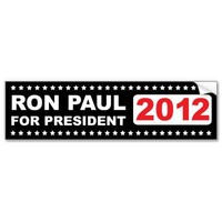 Ron Paul 2012 Bumper Sticker from Zazzle.com